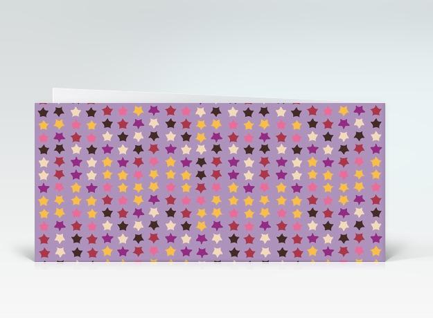 geburtstagskarte bunte geburtstagssterne auf lila englisch designer. Black Bedroom Furniture Sets. Home Design Ideas