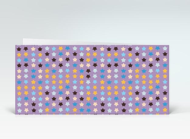 geburtstagskarte orange blaue geburtstagssterne auf lila englisch. Black Bedroom Furniture Sets. Home Design Ideas