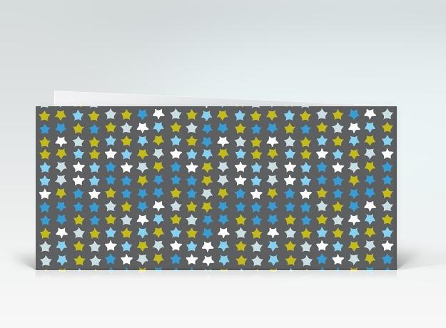 geburtstagskarte bunte geburtstagssterne auf grau englisch designer