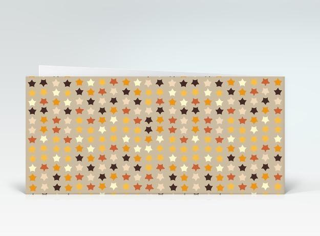 geburtstagskarte orange geburtstagssterne auf beige englisch designer