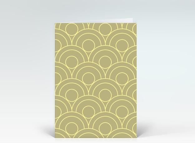 gl ckwunschkarte auf den kreis gebracht beige designer. Black Bedroom Furniture Sets. Home Design Ideas