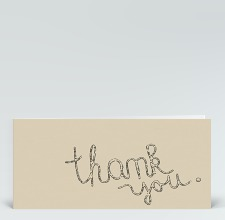 Danksagung: Thank you Stempel-Typo