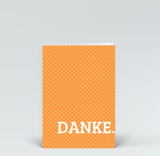 Danksagung: Danke Punkte orange