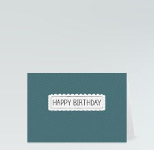 Geburtstagskarte: Happy Birthday Boutique blau