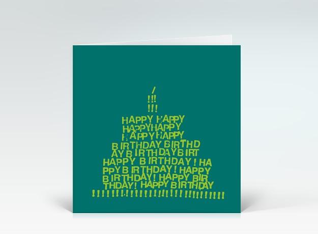 Geburtstagskarte Quot Happy Birthday Torte Gr 252 N Quot Designer