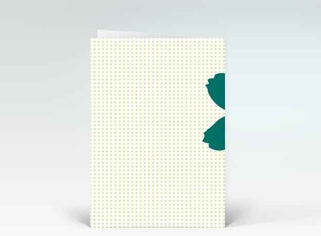 geburtstagskarte happy birthday blume pop art in gr n auf punkten designer. Black Bedroom Furniture Sets. Home Design Ideas